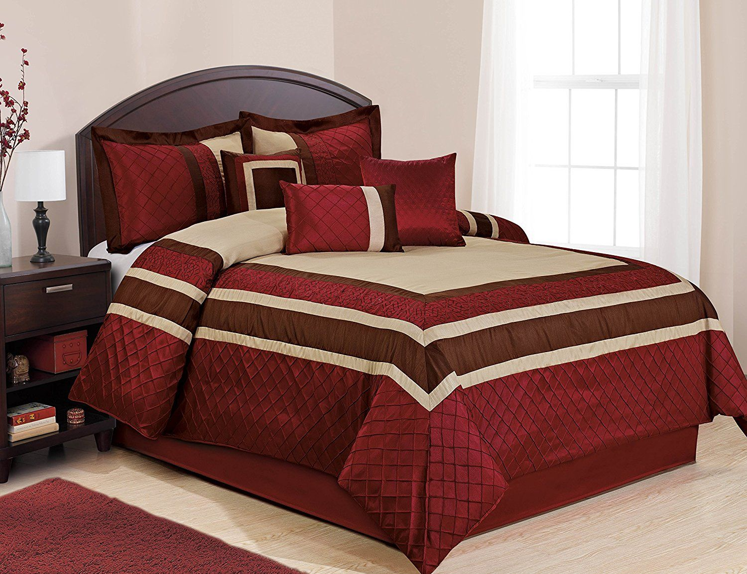 Best Fall Bedding Collections 7 Piece MYA Red Bed in a
