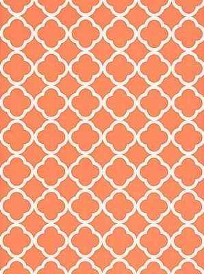 Schumacher MOROCCO TERRA COTTA Wallpaper