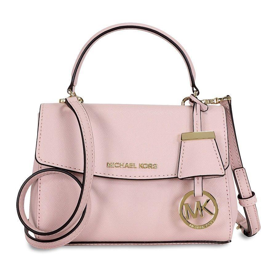 584cd97fed644 Michael Kors Ava Extra-Small Blossom Saffiano Crossbody Handbag ...