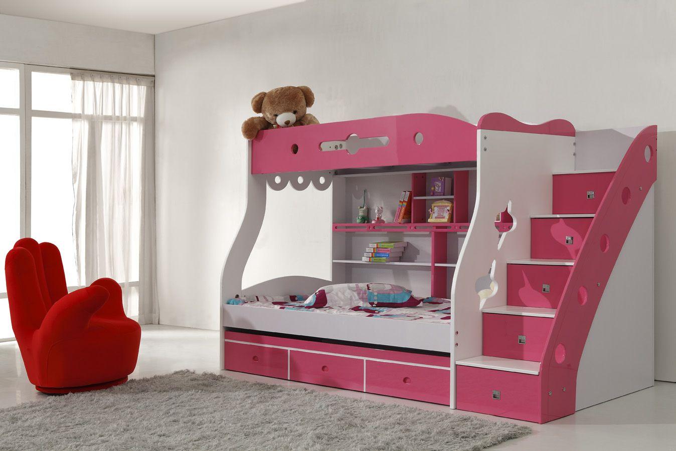 Modern loft bed ideas  Girls Bunk Beds  pretty room  Pinterest  Bunk bed Children