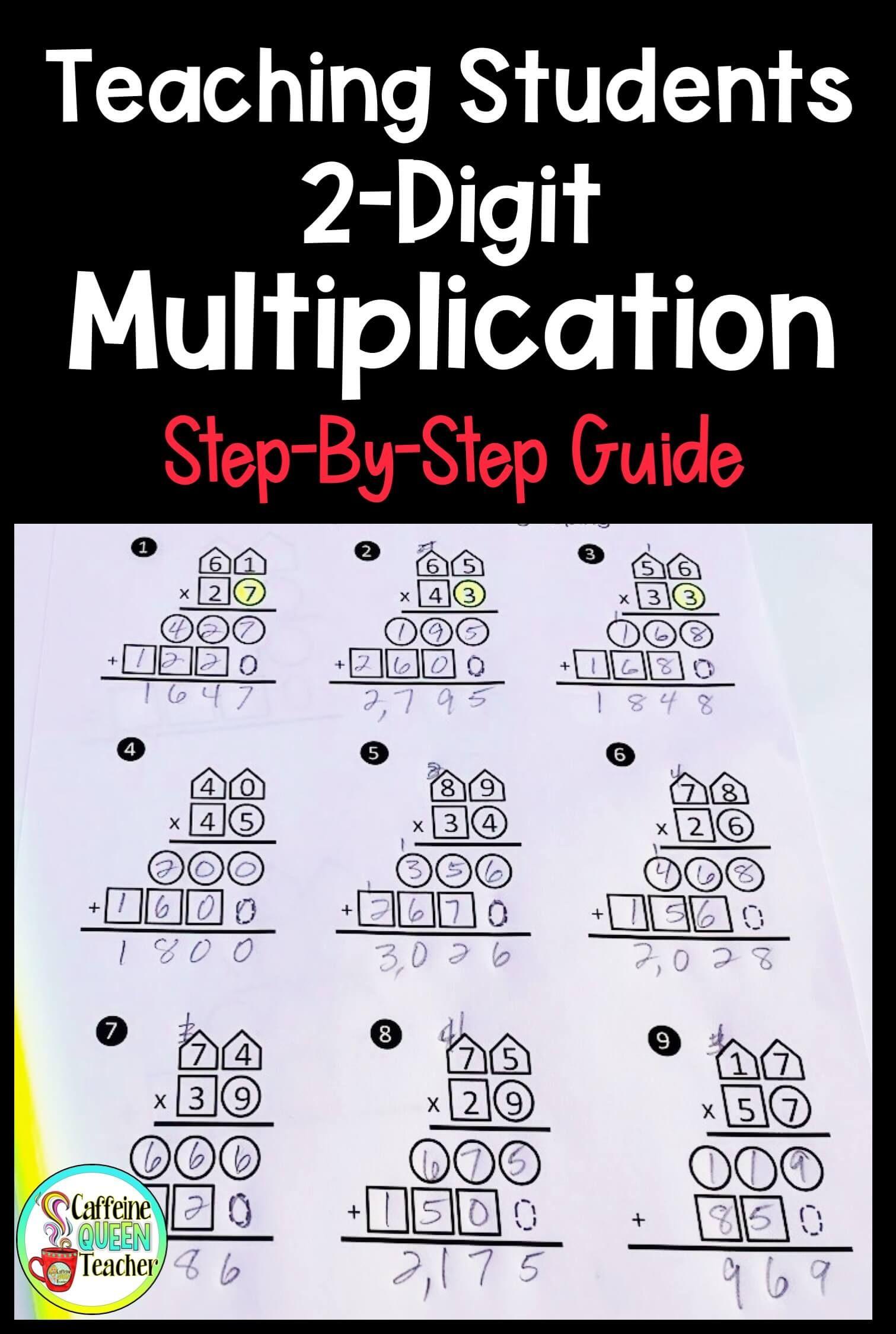 How To Teach Multi Digit Multiplication And Long Division Caffeine Queen Teacher Upper Elementary Math Special Education Teacher Special Education [ 2249 x 1511 Pixel ]