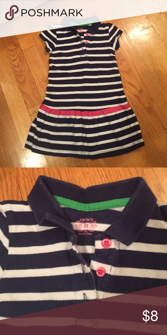 Carters navy and white polo Good condition Carter's Dresses Casual