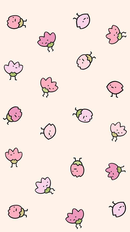 Art Background Beautiful Beauty Cartoon Cute Illustration Drawing Kawaii Pastel Pattern Pink Strawberry Sugar Sweets
