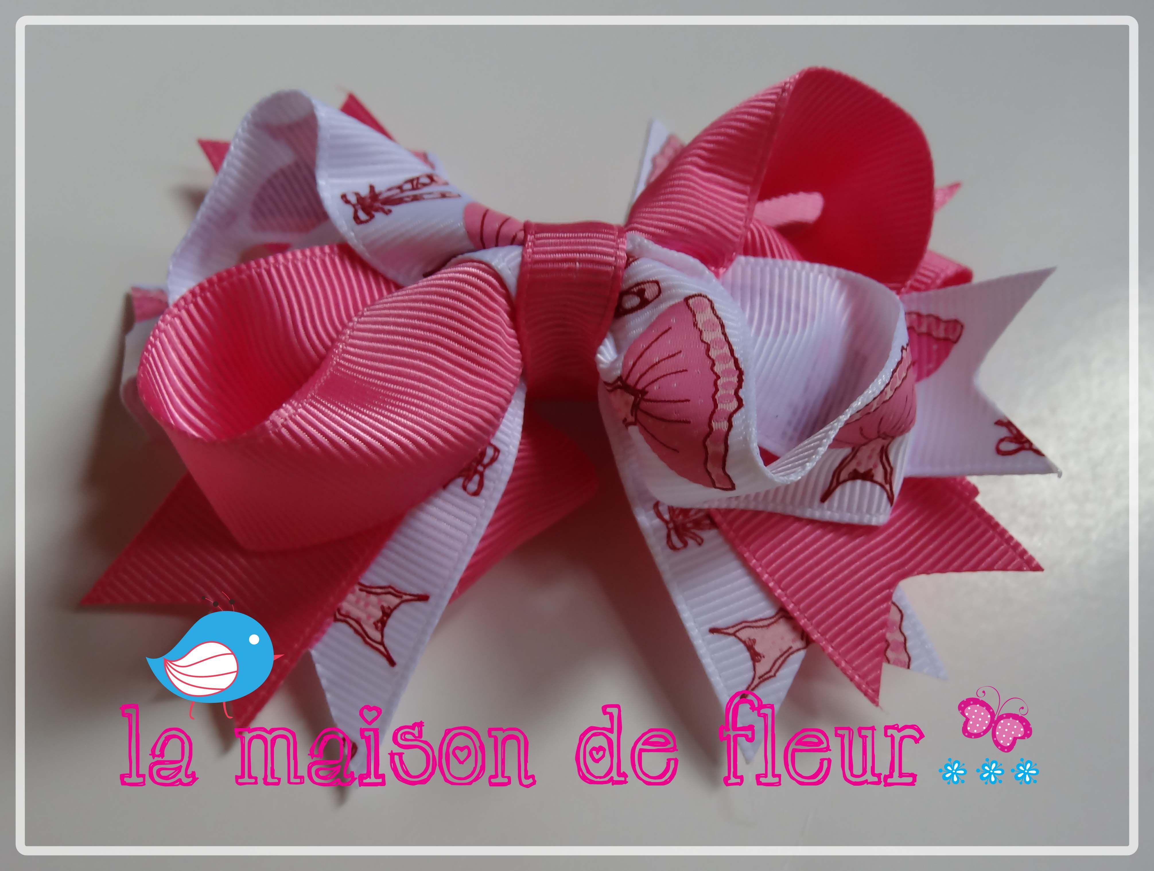 Ballet Hot Pink Dance tutu Hairbow