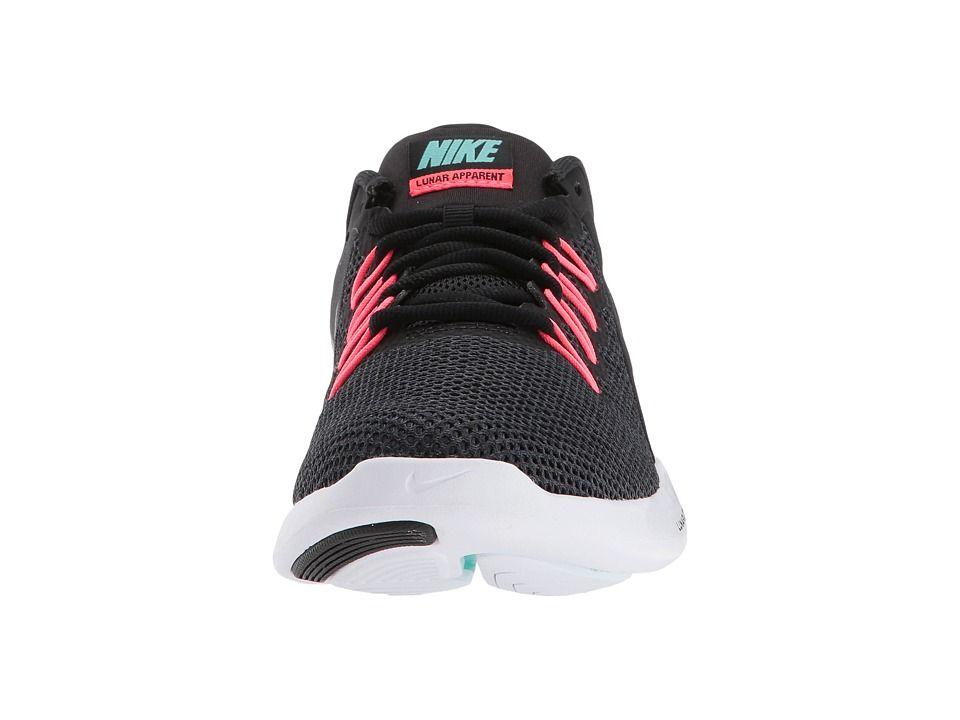 7435d94e450b Nike Lunar Apparent Women s Running Shoes Black Metallic Dark Grey Solar Red
