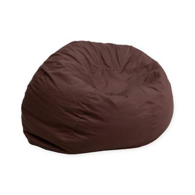 Tremendous Flash Furniture Small Solid Bean Bag Chair In Brown Andrewgaddart Wooden Chair Designs For Living Room Andrewgaddartcom