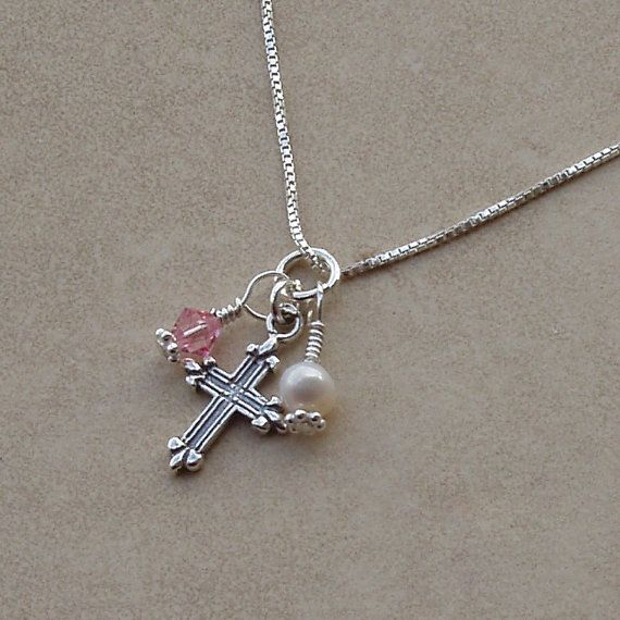 Sterling Silver First Communion Necklace by TinySilverTreasures, $24.99