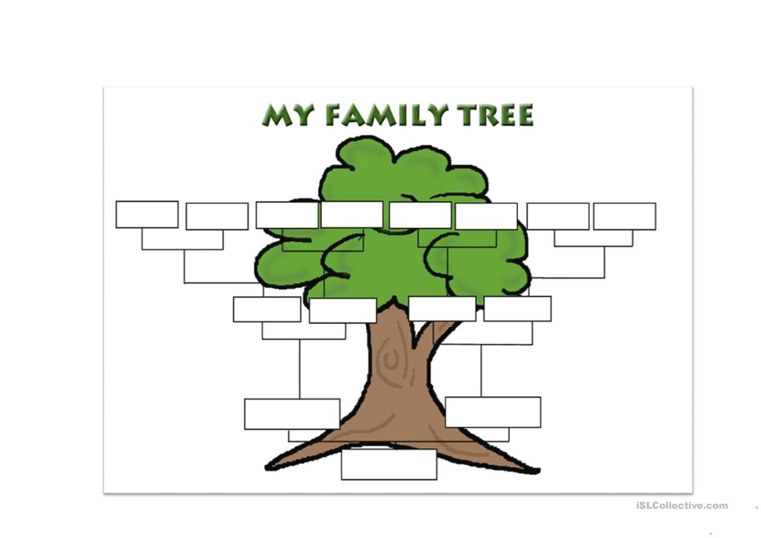 The Appealing Family Tree Template English Esl