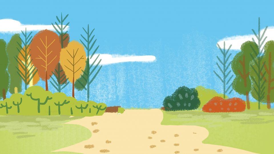 غابة الصيف الكرتون خلفية ملونة التوضيح Forest Cartoon Colorful Backgrounds Summer Background Images