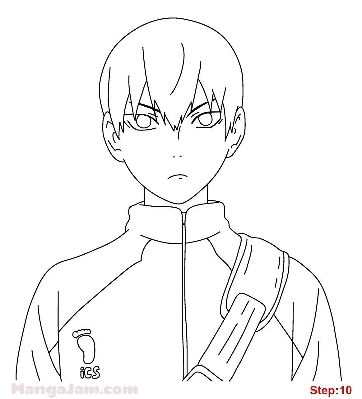 How Draw Tobio Kageyama Haikyuu 09 Anime Character Drawing Anime Drawings Tutorials Anime Lineart