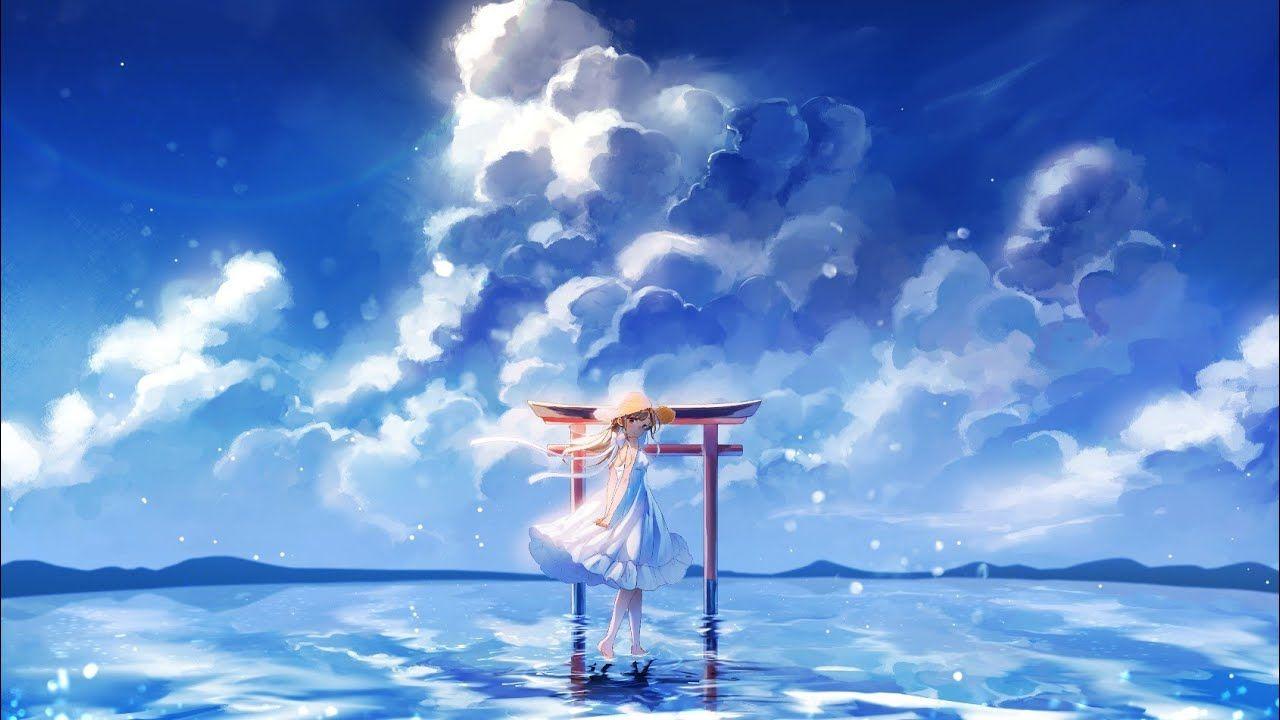 Youtube Sky Anime Anime Summer Cute Galaxy Wallpaper Anime summer wallpaper hd