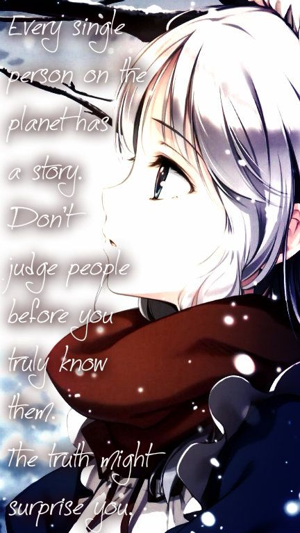 Anime Sad Girl Quotes Pics: Sad Anime Quote Girl