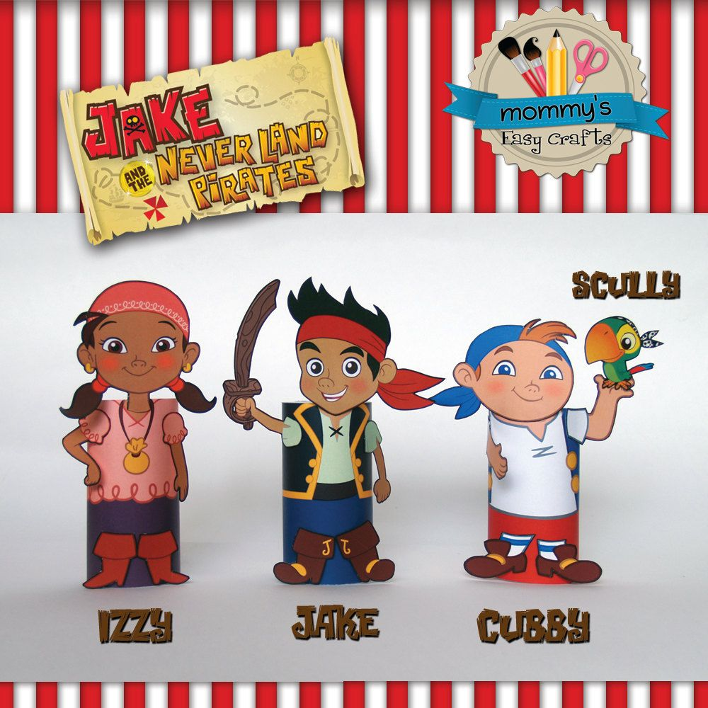 Manualidades con Jake & Neverland Pirates - Rollo de papel higiénico ...
