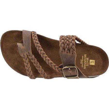 Toe loop sandals, Brown leather sandals
