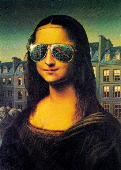 Mona Lisa wears her sunglasses at night