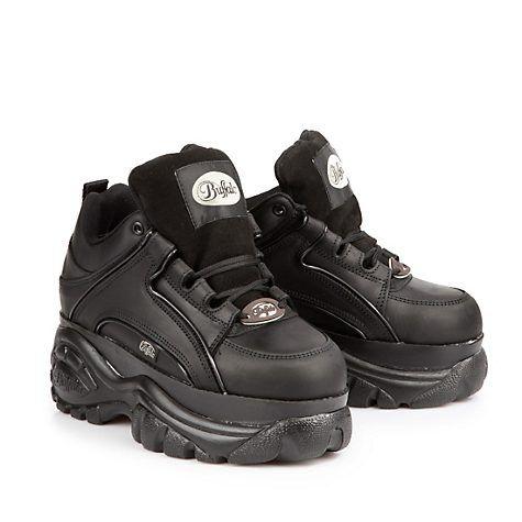Buffalo Plateau Klassiker in schwarz | Schuh stiefel
