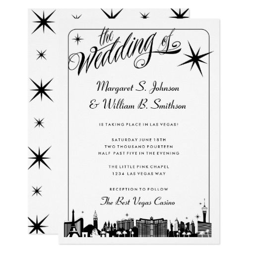 Elegant las vegas strip skyline wedding card las vegas wedding elegant las vegas strip skyline wedding card stopboris Images