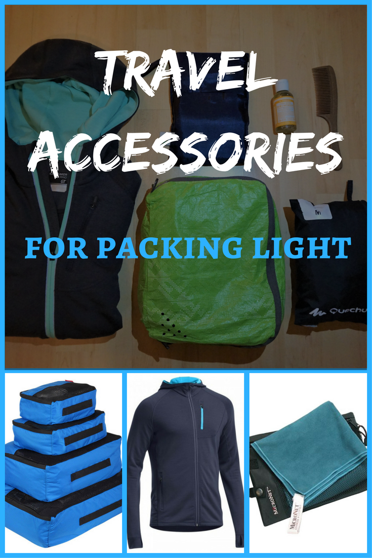 Never enough space in your backpack? Here is the solution! Travel accessories for packing light so you'll always fit everything in. #packing #packinglight #fiteverythingin