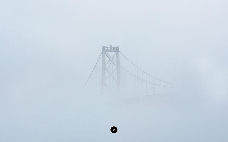 Wallpaper of the Week - Fog and the bridge   Abduzeedo Design Inspiration