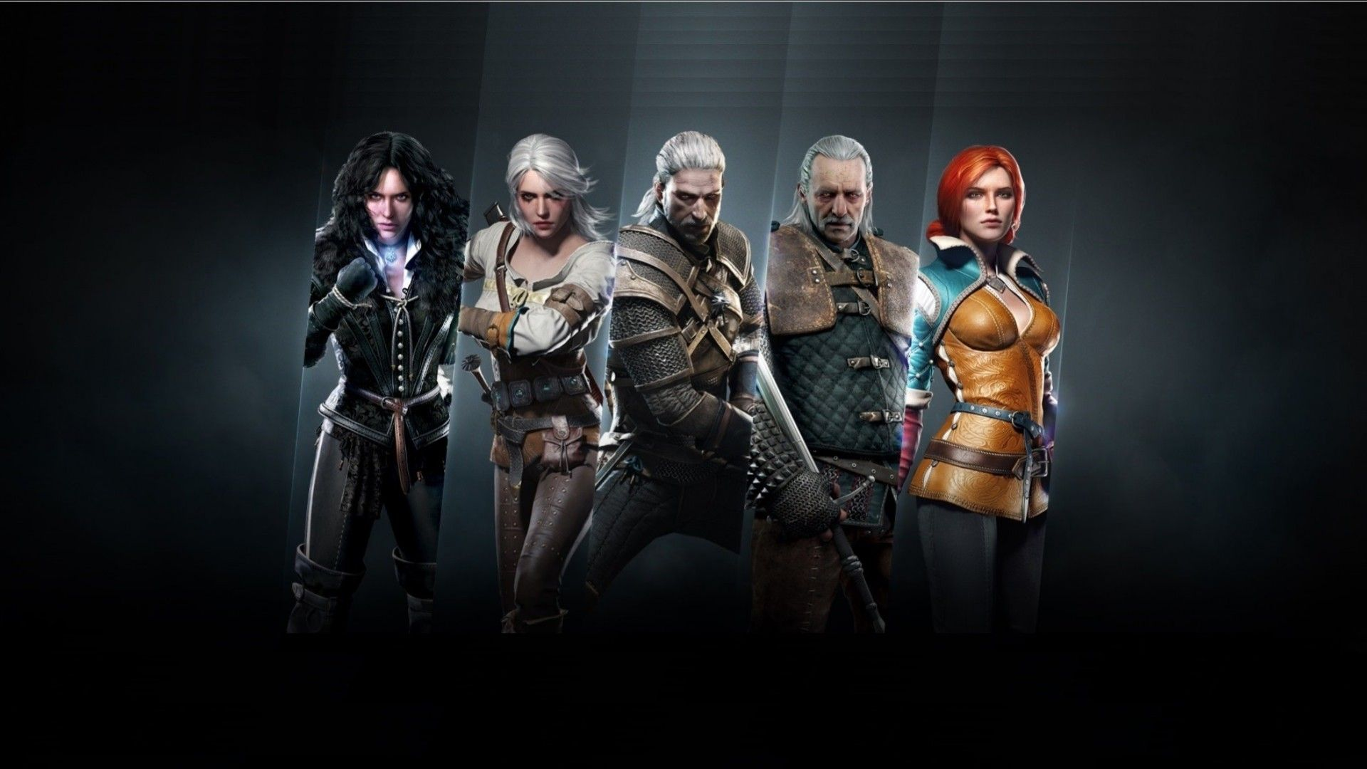 Wallpaper the witcher 3: wild hunt main characters awesome 1920x1080