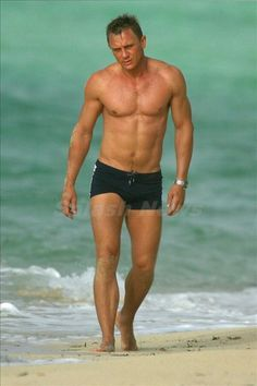 Image result for daniel craig swimming trunks