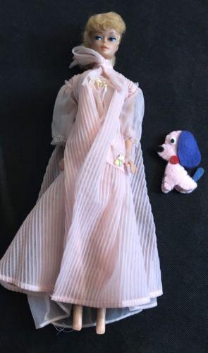 Vintage Barbie 965 Nighty Negliegee Set 1959 1964 White Barbie Tag Ebay Vintage Barbie Vintage Barbie Clothes Victorian Dress