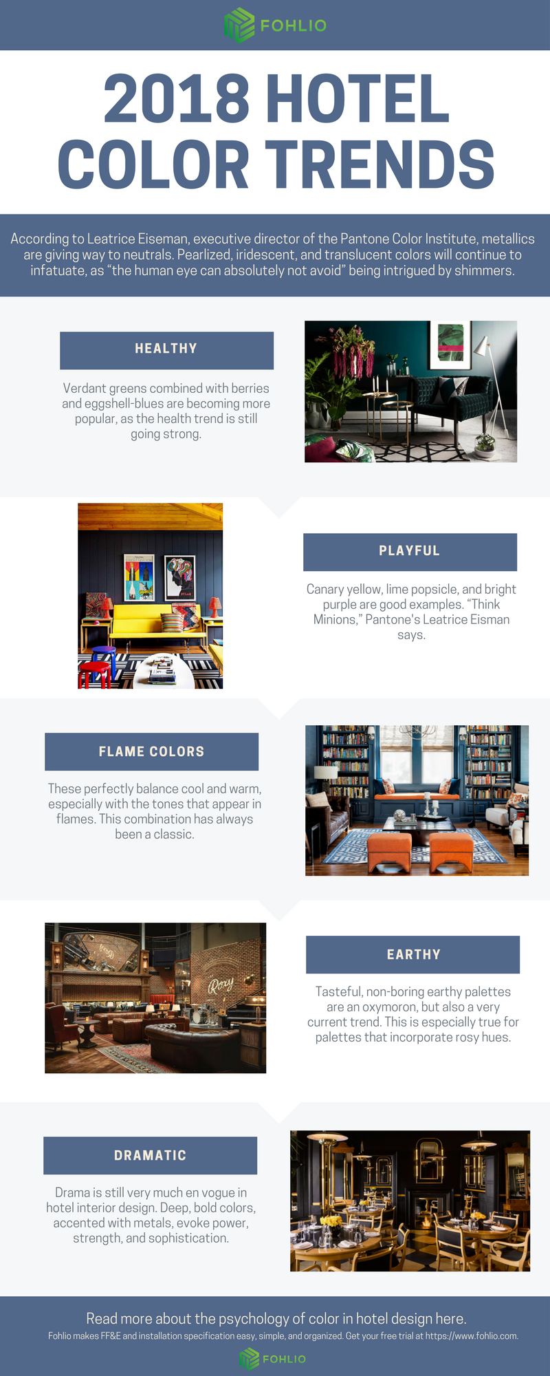 Hotel Interior Design Part 1 The Psychology Of Color And 2018