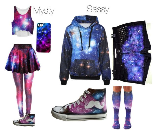 """""""#BFF Mysty and Me Galaxy"""" by sassygreenpewds ❤ liked on Polyvore featuring Uncommon and HVBAO"""