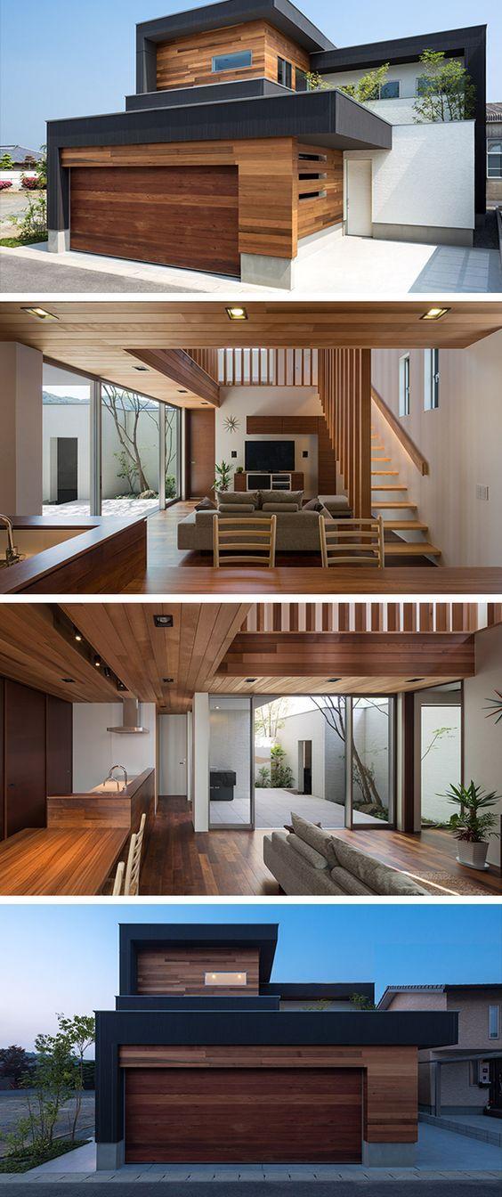 Los interiores  exteriores se integran my favorite homes house design modern also rh pinterest