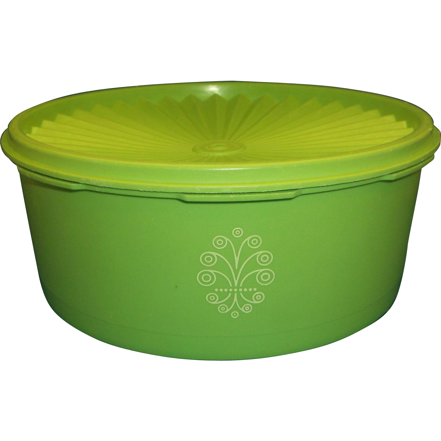 Tupperware Lime Green Servalier 8 Cup Canister 1204