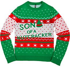 Son Of A Nutcracker Ugly Christmas Sweater Elf Buy Me This