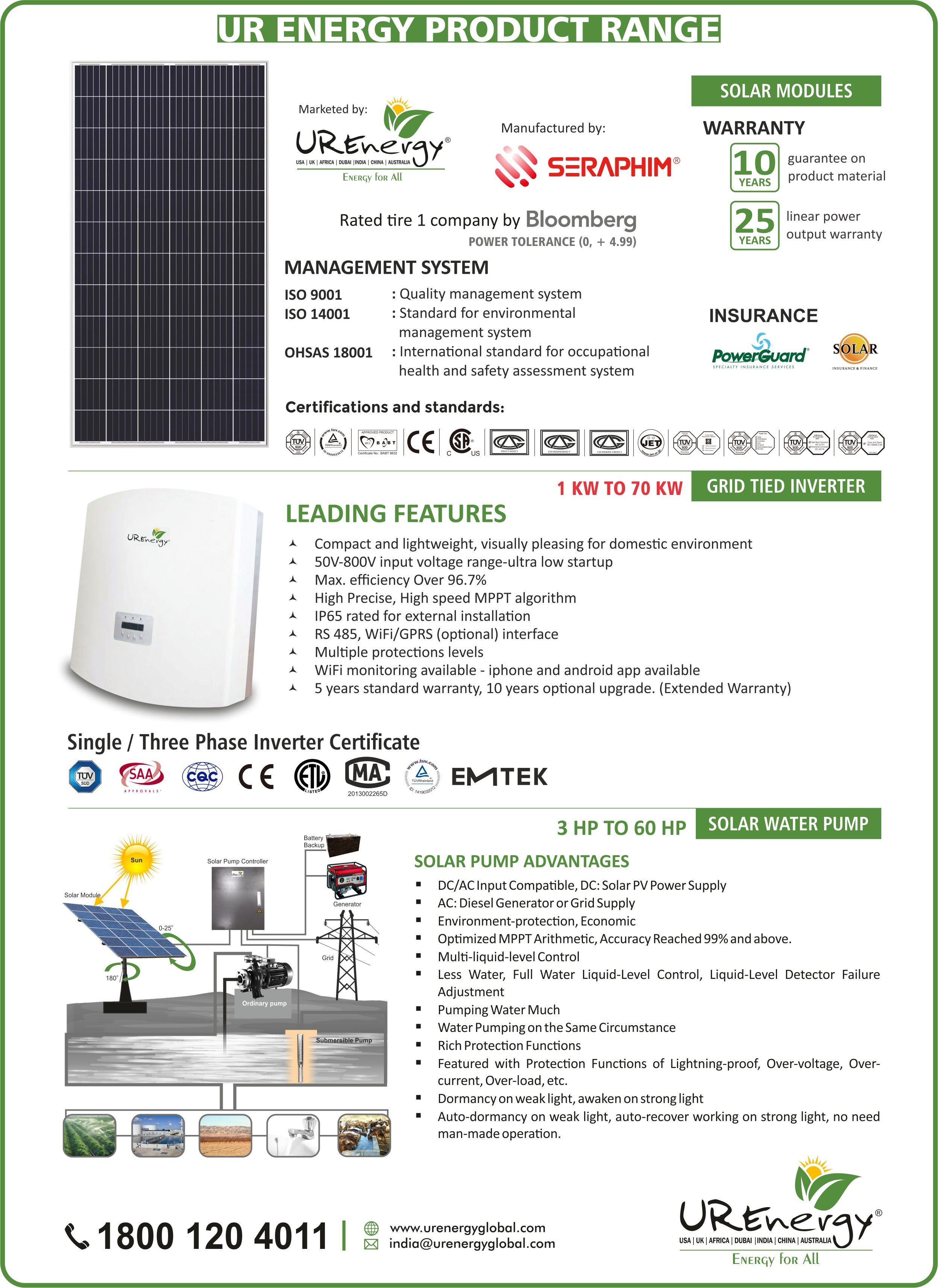 Rooftop Solar Panel Inverters Water Pump Solar Epc Gujarat India U R Energy Solar Module Solar Panel Inverter Solar Panels Design