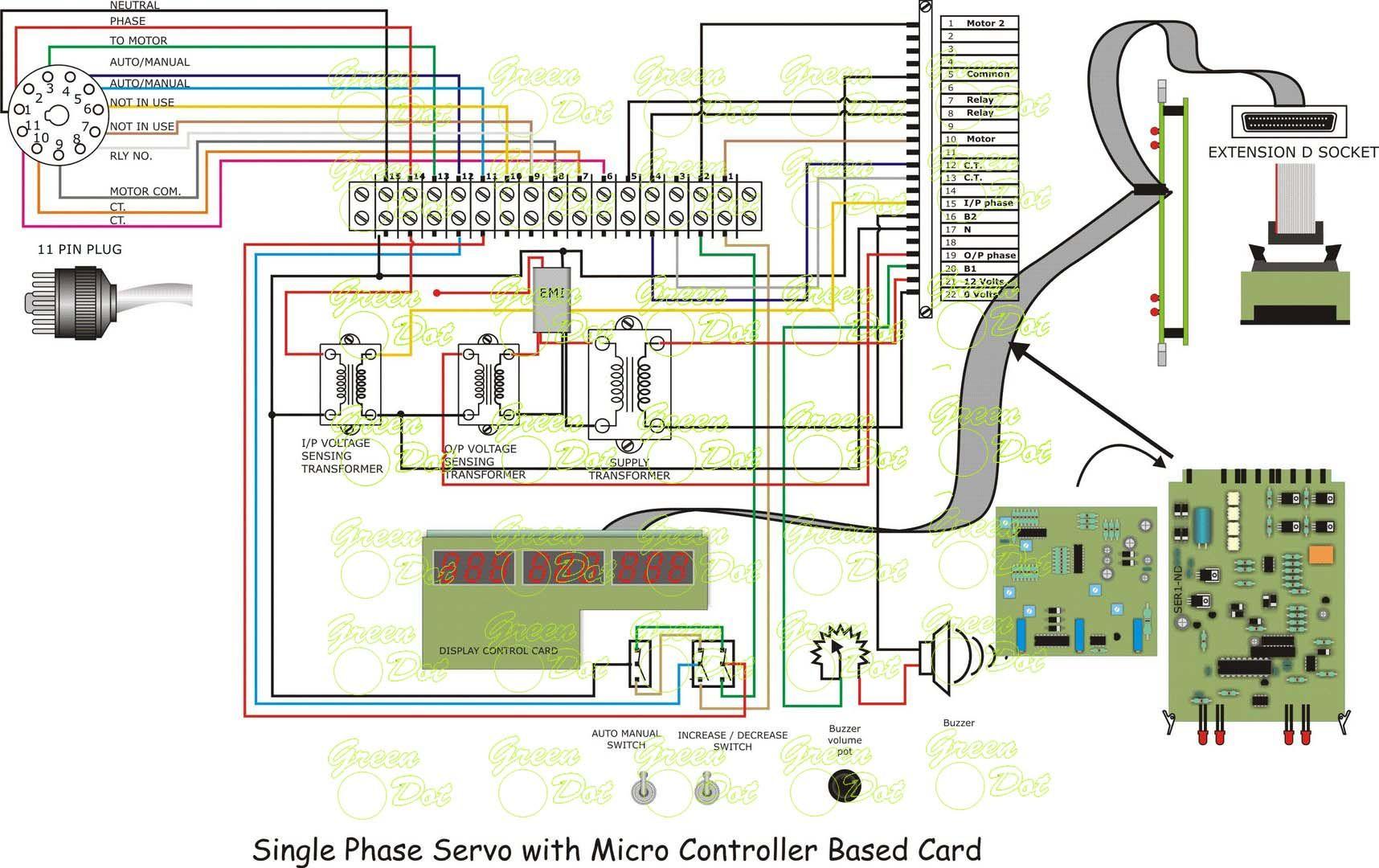 Circuitories Cards Operating Manuals Servo Box Micro Controller Cards Manual Power Rating Cards