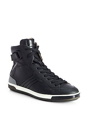 c32eba9a5a7 Bally Perforated High-Top Sneakers