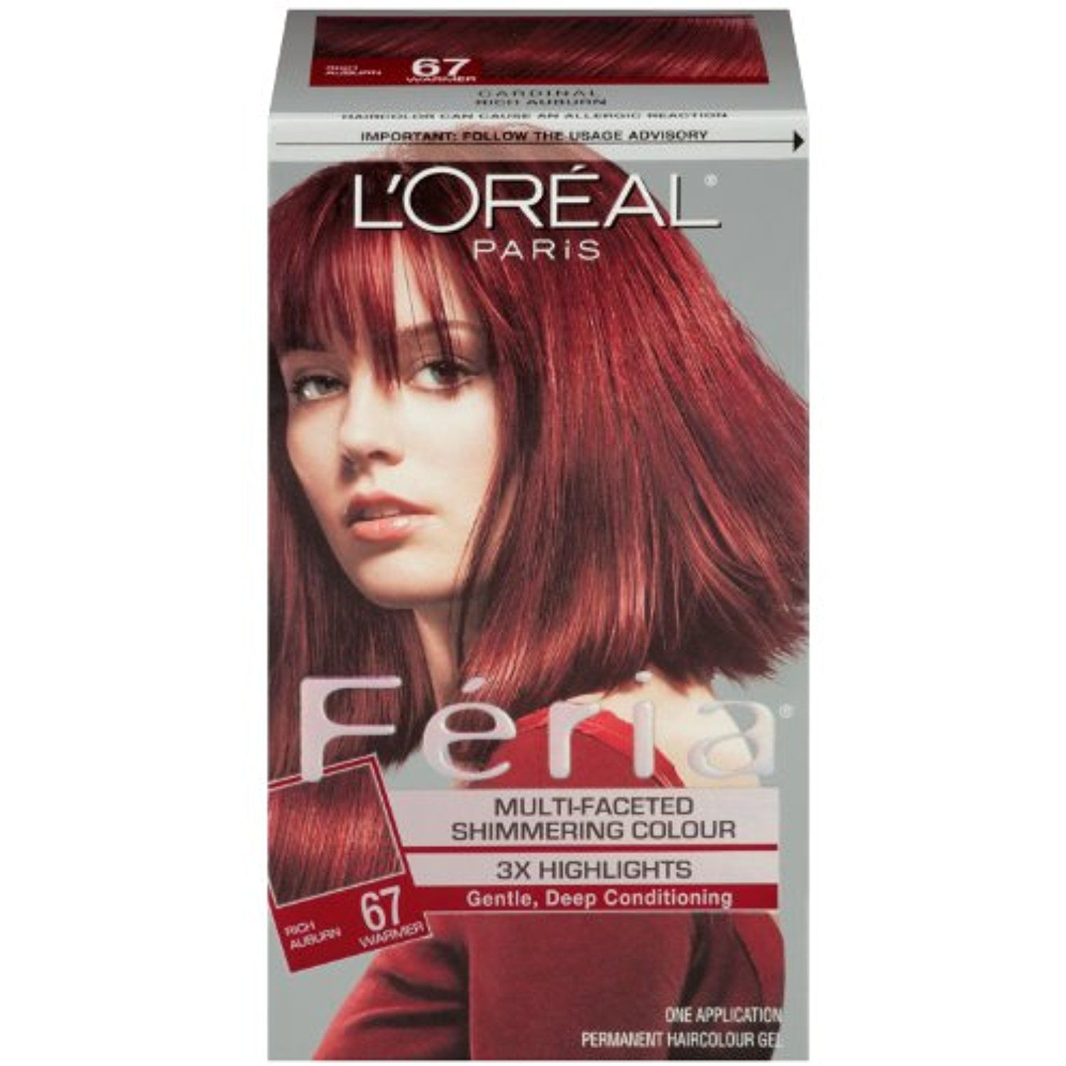 Loreal Paris Feria Hair Color 67 Rich Auburncardinal More Info