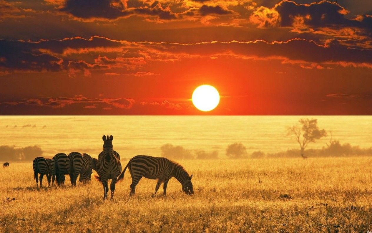 Central African Republic Beautiful Sunset