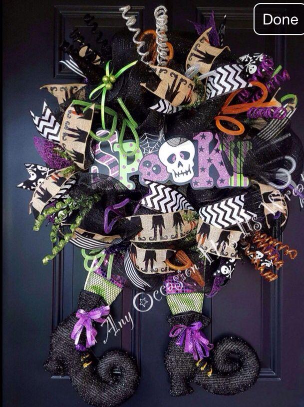 Halloween Wreath Halloween wreath, Halloween, Wreaths