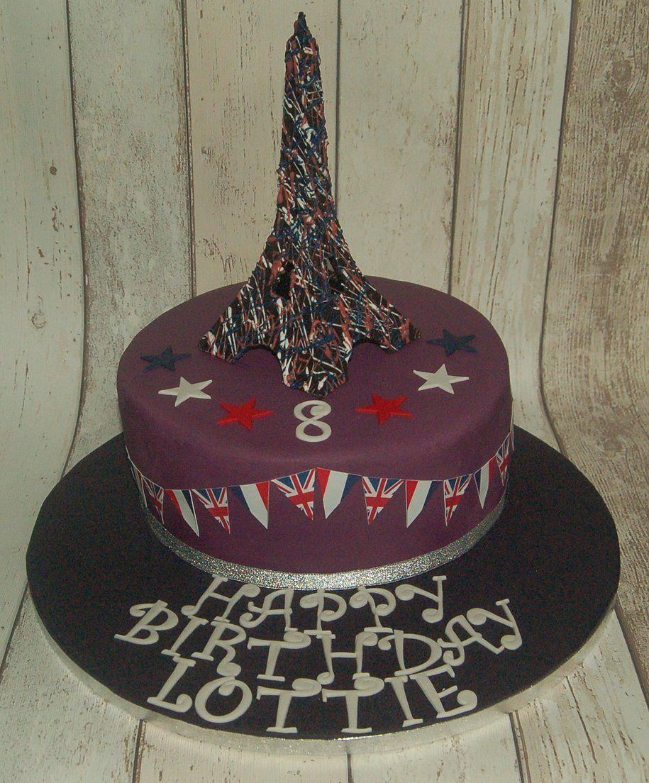 Eiffel Tower cake Celebration cakes by Major Bakes Pinterest