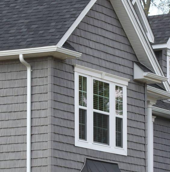 Best Gray Siding White Trim Black Shingles Exterior House 400 x 300