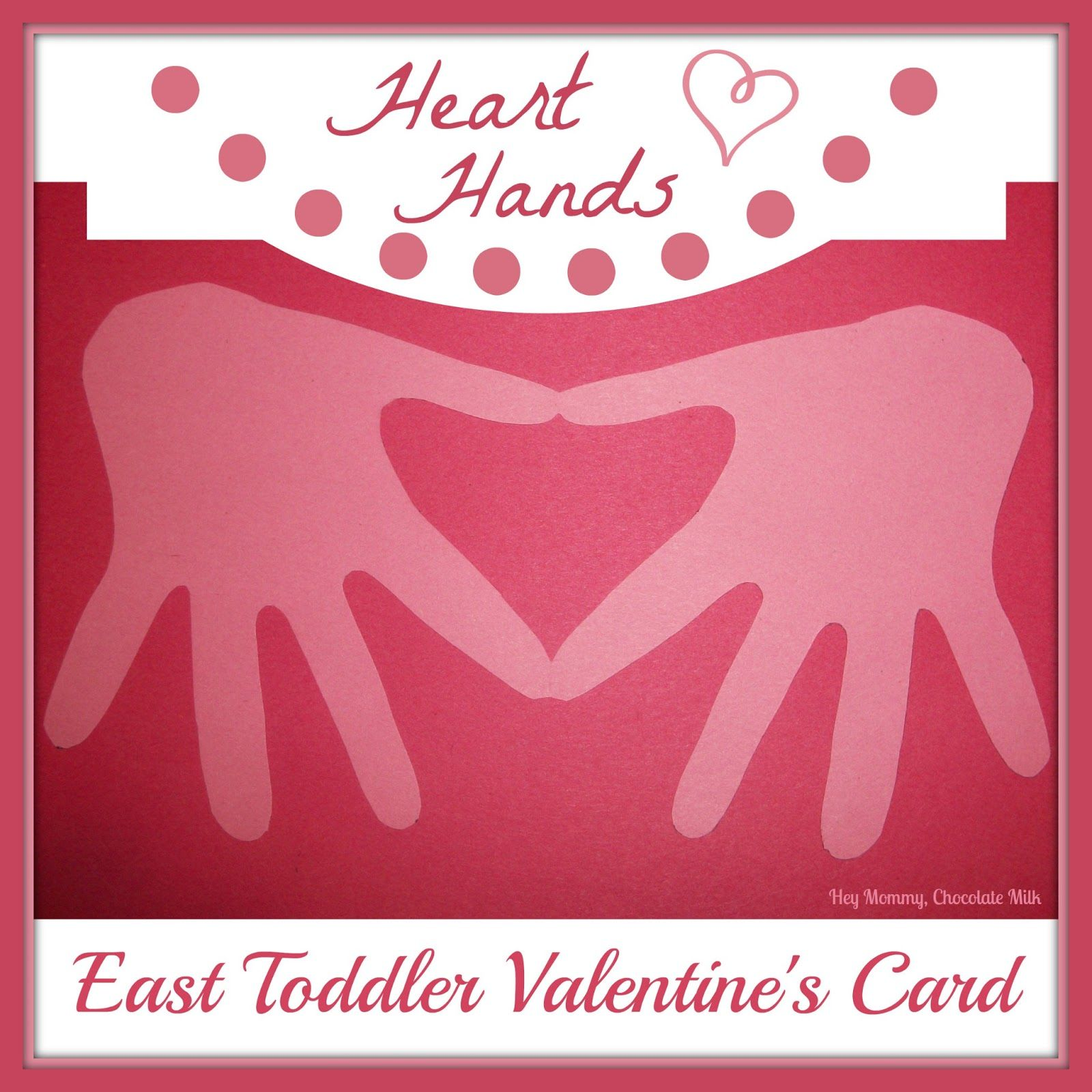 paper valentine hand cutout | ... and super cute card to ...