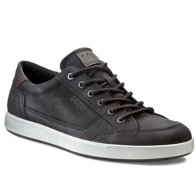 Sneakersy Ecco Eisner 53388456786 Black Coffee Codzienne Polbuty Meskie