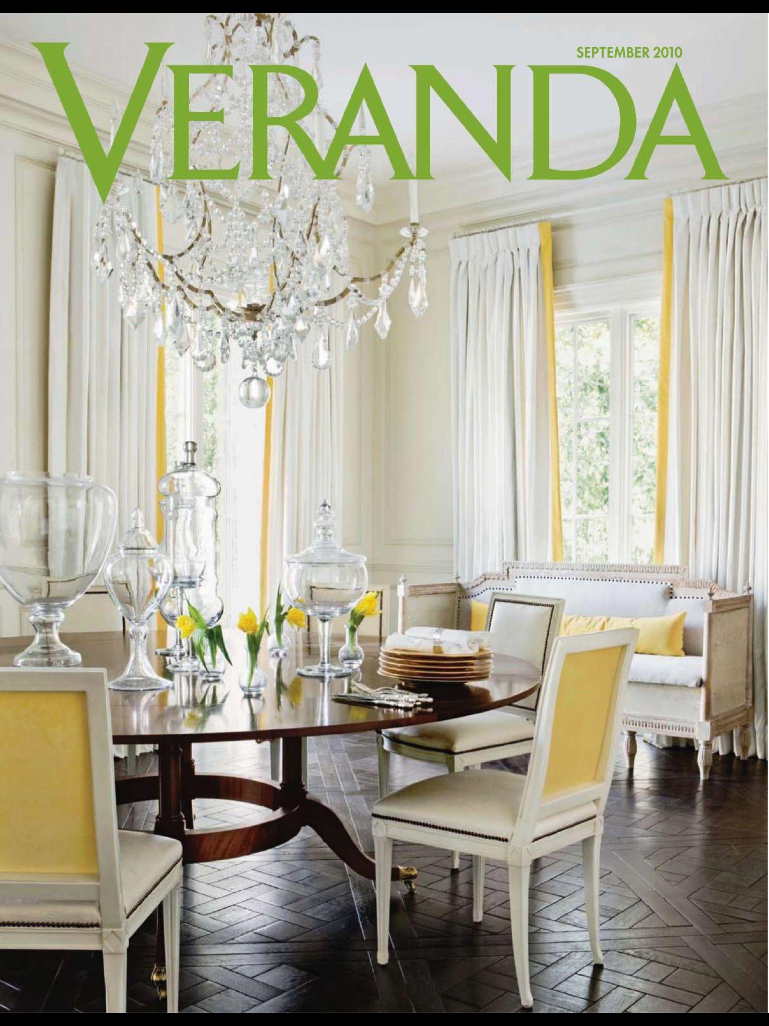 Veranda magazine September 2010. Love Designer Melanie Turner and ...