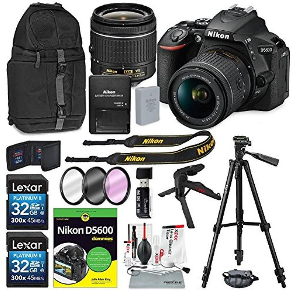 Nikon D5600 DSLR Camera and 18-55mm Lens Kit & Book for Dummies