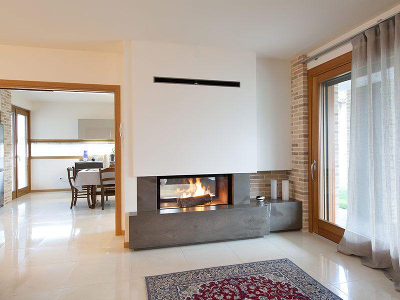 Caminetti In Cucina Moderna : Caminetto moderno bifacciale camino nel fireplace design