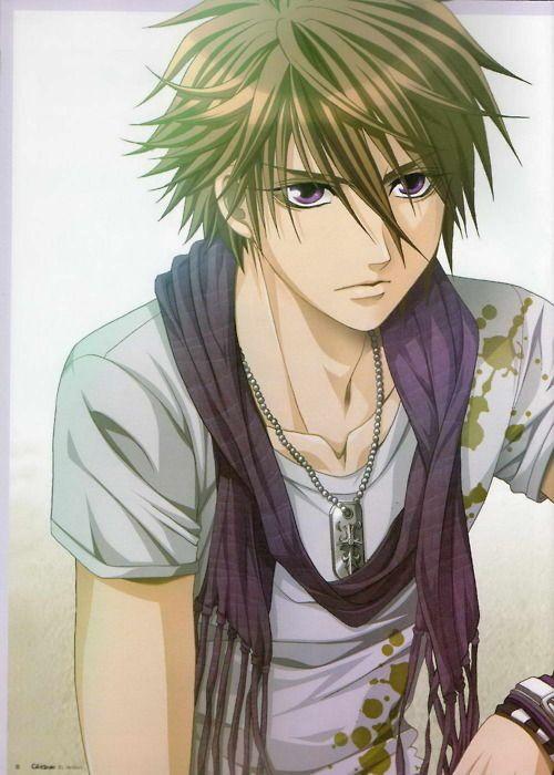 anime ninjas boys with green hair