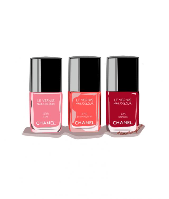 Illustration - Chanel Nail Polish from LL-Creative.com ...