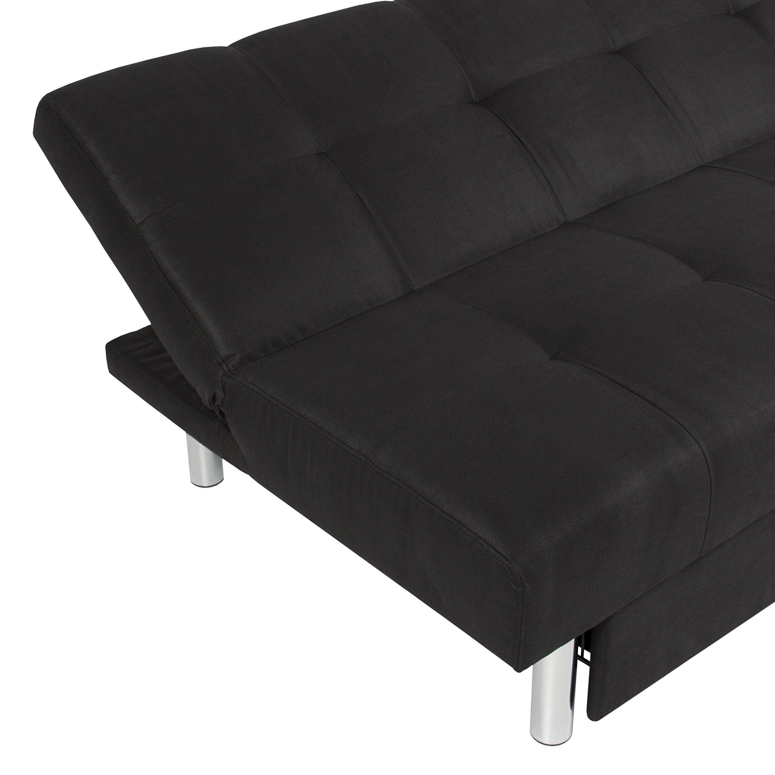 Best Choice Products Microfiber Futon Folding Sofa Bed Couch