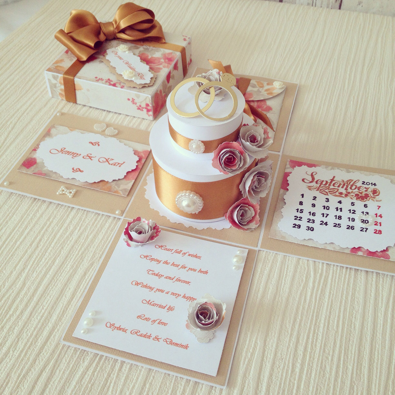 Handmade Exploding Box Card made for wedding