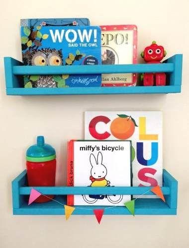 estantes repisa libros cuadros infantil laqueado li Baby