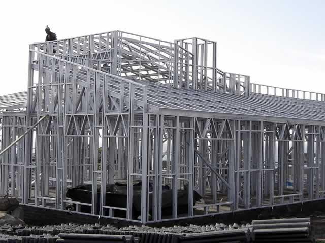 light steel frame construction alternative building